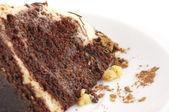 巧克力蛋糕特写 — 图库照片