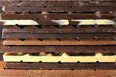 Assortierte Schokolade Nahaufnahme — Stockfoto
