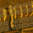 Circuit board close-up - Foto de Stock  