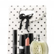 Cosmetic set and bag - Stock Photo