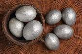 Ovos de páscoa de prata — Foto Stock