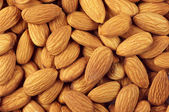 Almonds close-up — Stockfoto