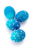 Blue Easter eggs — Stock Photo