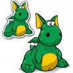 Ridiculous dragon — Stock Vector #9964386