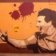Stock Photo: Graffiti in honor Lionel Messi in Barcelona