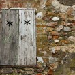 Stock Photo: Rustic background. Window and stones