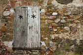 Rustic background. Window and stones — Stock Photo