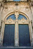 Door of Cathedral - Santiago de Compostela, Spain — Stock Photo