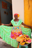 Fruit seller in Cartagena de Indias — Stock Photo