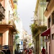 Daily scene on a street in Old Havana — Stock Photo #8335012