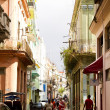 Daily scene on a street in Old Havana — Stock Photo