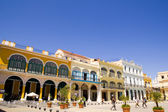 Overview of Plaza Vieja - Old Town Square — Stock Photo