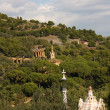 Royalty-Free Stock Photo: Panoramic of Park Guell by Gaud, Barcelona