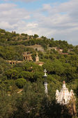 Panoramic of Park Guell by Gaud', Barcelona — Stock Photo