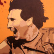 Graffiti in honor Lionel Messi in Barcelona — Stock Photo
