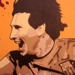 Graffiti in honor Lionel Messi in Barcelona — Stock Photo #8688480