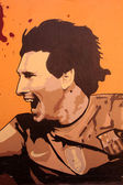Graffiti in honor Lionel Messi in Barcelona — Stock Photo