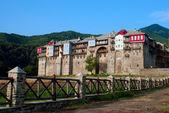 Monastery Iviron on Mount Athos, Chalkidiki, Greece — Stock Photo