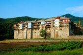 Monastère iviron sur le mont athos, chalcidique, grèce — Photo