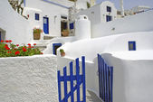 Traditional village of Thira at Santorini island in Greece — Stock Photo