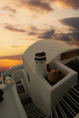 Santorini sunset (Firostefani) - Greece vacation — Stock Photo