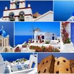 Collage of Santorini island, Greece travel images — Stock Photo