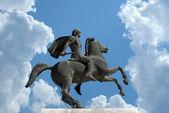 Statue d'alexandre le grand à la ville de thessalonique en grèce — Photo