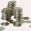 Stacks of Canadian Coins — Stock Photo #8482537