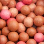 Cosmetics rouge blusher ball — Stock Photo