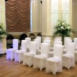 Wedding hall and chairs - Stock Photo