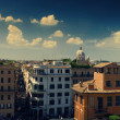 Stock Photo: Panoramof Rome, cross processed