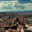 Stock Photo: Panoramic photograph of Florence, cross processed