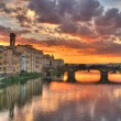 Sunset in Florence, Italy - Stock Photo