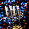 Stock Photo: Champagne glasses with decoration