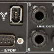 Stock Photo: Mixer inputs and outputs