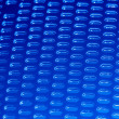Abstract blue grid background - Stock Photo
