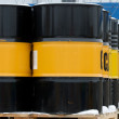 Barrels with oil — Stock Photo