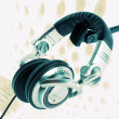 DJ headphones abstract — 图库照片