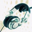 DJ headphones abstract - Stock Photo
