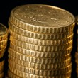 Stock Photo: Columns of golden coins