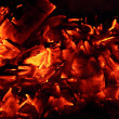 Stock Photo: Charcoal fire