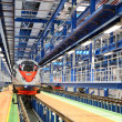 Fast train in service depot — Stock Photo #10232633
