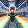 Royalty-Free Stock Photo: High-speed train in the service depot