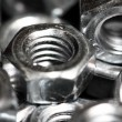 Screw nuts closeup — Stock Photo
