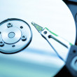 Hard disk drive closeup — Stock Photo