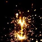 Christmas sparkler — Stock Photo