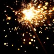 Burning sparkler — Stock Photo