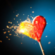 Sparkling candy heart — Stock Photo