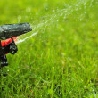 Closeup of lawn sprinkler with copyspace — Stock Photo