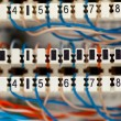 Telephone switchboard panel with wires — Stock Photo #10235228